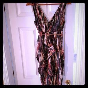 H&M Multi-color Belted Dress Size 8